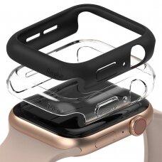 Ringke Slim Watch Case 2x set protective case for Watch 6 44mm / Watch 5 44mm / Watch 4 44mm / Watch SE 44mm transparent + black (SLAP0035)