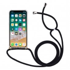 Rope case gel TPU airbag case cover with lanyard for iPhone 8 Plus / iPhone 7 Plus transparent (gcl74) (IP7PLUS)