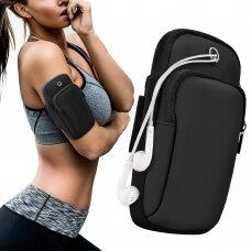 Running armband sports phone band case black