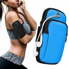 Running armband sports phone band case blue