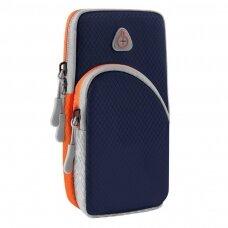 Running armband sports phone band case dark blue