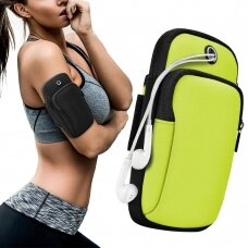 Running armband sports phone band case green