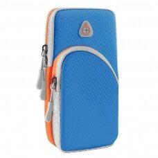 Running armband sports phone band case light blue