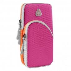 Running armband sports phone band case magenta