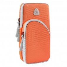 Running armband sports phone band case orange