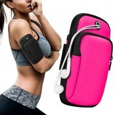 Running armband sports phone band case pink