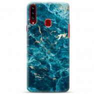 """Samsung Galaxy A20s silikoonist telefoni korpus ainulaadse disainiga, 1,0 mm """"u-case Airskin Marble 2 design"""""""