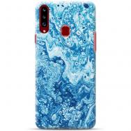 """Samsung Galaxy A20s silikoonist telefoni korpus ainulaadse disainiga, 1,0 mm """"u-case Airskin Marble 3 design"""""""