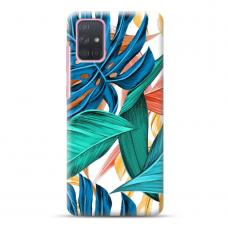 "Samsung Galaxy A02s Unique Silicone Case 1.0 mm ""u-case Airskin Leaves 1 design"""