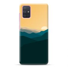 "Samsung Galaxy A02s Unique Silicone Case 1.0 mm ""u-case Airskin Mountains 2 design"""