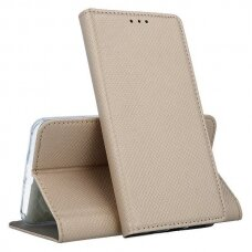 samsung galaxy a20e Eco leather flip case Mocco Smart Magnet gold