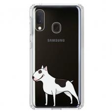 "Samsung Galaxy A20e silicone phone case with unique design 1.0 mm ""u-case Airskin Doggo 3 design"""
