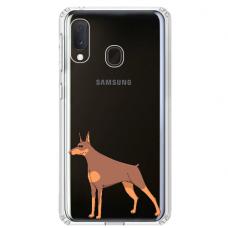 "Samsung Galaxy A20e silicone phone case with unique design 1.0 mm ""u-case Airskin Doggo 6 design"""