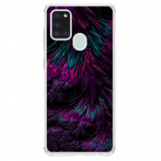 "Samsung Galaxy a21s Unique Silicone Case 1.0 mm ""u-case Airskin Feather design"""