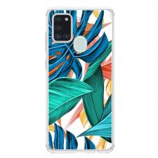 "Samsung Galaxy a21s Unique Silicone Case 1.0 mm ""u-case Airskin Leaves 1 design"""