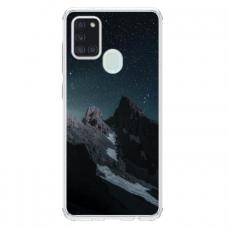 "Samsung Galaxy a21s Unique Silicone Case 1.0 mm ""u-case Airskin Mountains 1 design"""