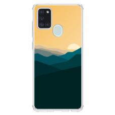 "Samsung Galaxy a21s Unique Silicone Case 1.0 mm ""u-case Airskin Mountains 2 design"""