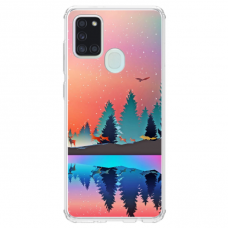 "Samsung Galaxy a21s Unique Silicone Case 1.0 mm ""u-case Airskin Nature 5 design"""