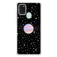 "Samsung Galaxy a21s Unique Silicone Case 1.0 mm ""u-case Airskin Planet design"""