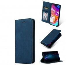 Samsung galaxy A40 Flip case Business Style eco leather Blue