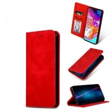 Samsung galaxy A40 Flip case Business Style eco leather Red