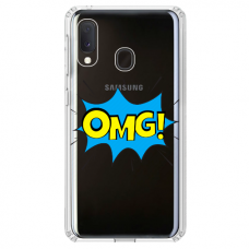 "Samsung Galaxy A40 Unique Silicone Case 1.0 mm ""u-case Airskin OMG design"""