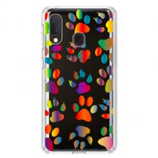 "Samsung Galaxy A40 Unique Silicone Case 1.0 mm ""u-case Airskin PAW design"""