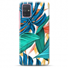"Samsung Galaxy A41 Unique Silicone Case 1.0 mm ""u-case Airskin Leaves 1 design"""