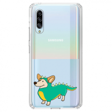 "Samsung Galaxy A50 silicone phone case with unique design 1.0 mm ""u-case Airskin Doggo 4 design"""