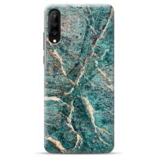 "Samsung Galaxy A50 silicone phone case with unique design 1.0 mm ""u-case airskin Marble 3 design"""