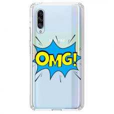 "Samsung Galaxy A50 silicone phone case with unique design 1.0 mm ""u-case Airskin OMG design"""