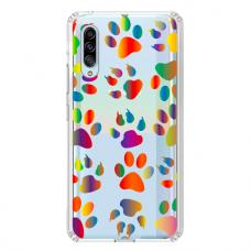 "Samsung Galaxy A50 silicone phone case with unique design 1.0 mm ""u-case Airskin PAW design"""