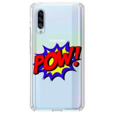 "Samsung Galaxy A50 silicone phone case with unique design 1.0 mm ""u-case airskin POW design"""
