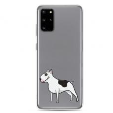 "Samsung Galaxy A51 silicone phone case with unique design 1.0 mm ""u-case Airskin Doggo 3 design"""