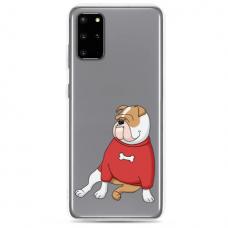 "Samsung Galaxy A51 silicone phone case with unique design 1.0 mm ""u-case Airskin Doggo 5 design"""