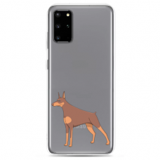 "Samsung Galaxy A51 silicone phone case with unique design 1.0 mm ""u-case Airskin Doggo 6 design"""