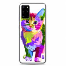 "Samsung Galaxy A51 silicone phone case with unique design 1.0 mm ""u-case Airskin Kitty design"""