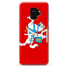 "Samsung Galaxy a6 2018 silicone phone case with unique design 1.0 mm ""u-case Airskin Vytis design"""