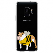 "Samsung Galaxy a6 plus 2018 silicone phone case with unique design 1.0 mm ""u-case Airskin Doggo 1 design"""