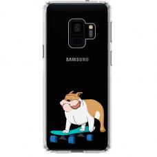 "Samsung Galaxy a6 plus 2018 silicone phone case with unique design 1.0 mm ""u-case Airskin Doggo 2 design"""