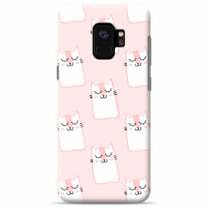 """Samsung Galaxy a6 plus 2018 Unique Silicone Case 1.0 mm """"u-case Airskin Pink Kato design"""""""