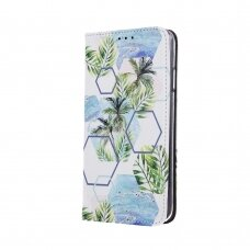 """samsung galaxy a70 Pu leather flip case """"Smart Trendy"""" 'tropical abstraction'"""