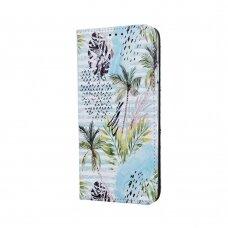 "samsung galaxy a70 Pu leather flip case ""Smart Trendy"" 'tropical palm'"