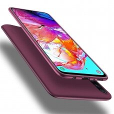 """Samsung galaxy a70 SILICONE MATTE CASE """"X-LEVEL GUARDIAN"""" 0,6 MM wine red"""