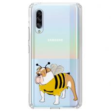 "Samsung Galaxy A70 silicone phone case with unique design 1.0 mm ""u-case Airskin Doggo 1 design"""