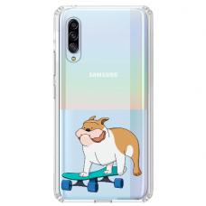 "Samsung Galaxy A70 silicone phone case with unique design 1.0 mm ""u-case Airskin Doggo 2 design"""