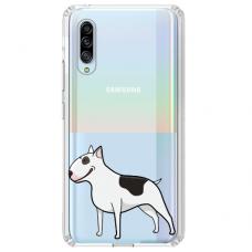 "Samsung Galaxy A70 silicone phone case with unique design 1.0 mm ""u-case Airskin Doggo 3 design"""