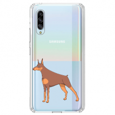 "Samsung Galaxy A70 silicone phone case with unique design 1.0 mm ""u-case Airskin Doggo 6 design"""