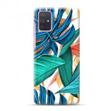 "Samsung Galaxy A71 Unique Silicone Case 1.0 mm ""u-case Airskin Leaves 1 design"""