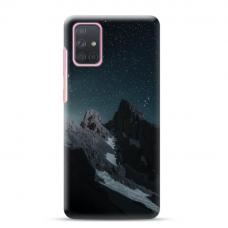 "Samsung Galaxy A71 Unique Silicone Case 1.0 mm ""u-case Airskin Mountains 1 design"""